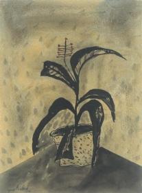 Yusuf Arakkal STILL LIFE II Watercolor on paper 26 x 19 in.  NFS