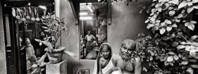 Raghu Rai ARTIST STUDIO, KOLKATA 2004 Digital scan of photographic negative on archival paper 20 x 54 in.