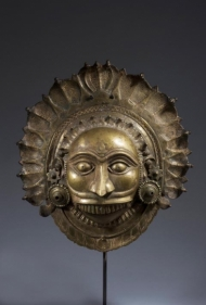 Shiva- Bhuta Mask Southern India, Karnataka, Tulu Naidu Region c. 18th century Copper alloy Height: 12.5 in.