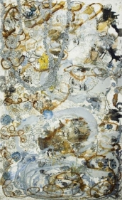 Jayashree Chakravarty UNTITLED 3 (THE COMFORT ZONE) 2009 Acrylic and oil on canvas 120 x 73 in. NFS