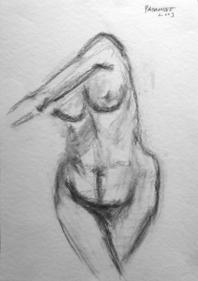 Akbar Padamsee NUDE 6 2003 Pencil on paper 14.5 x 10 in.