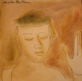 Anjolie Ela Menon YATRA 8 2005 Watercolor on paper 11 x 11 in.  SOLD