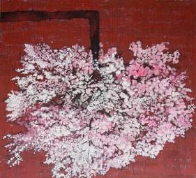G. R. Iranna, Blossom, 2013, Acrylic on canvas, 66.25 x 72.50 in