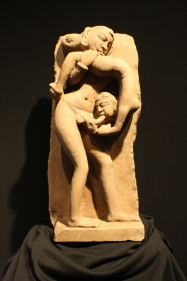 Erotic Sculpture Panna (Near Khajuraho), Madhya Pradesh Sandstone 12th Century Height: 23 in.