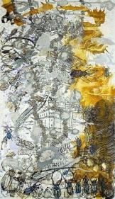 Jayashree Chakravarty UNTITLED 4 (STANDING WITNESS) 2009 Acrylic on canvas 120 x 69.5 in. NFS