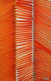 Charles-Hossein ZENDEROUDI TSUKI-YOMI 2014 Metallic pigments and acrylic on canvas 83 x 52 in.