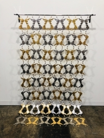 Adeela Suleman After All It's Always Somebody Else Who Dies 3 (Ed. Of 3) 2018 Steel with 22k gold plating 84 x 49 in.