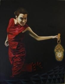 Sana Arjumand MASSIVE HUMAN SEARCH - 1 2010 Oil on canvas 54 x 42 in.