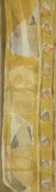 Manish Pushkale TUESDAY'S HEAT 2008 Oil on canvas 48 x 14 in.