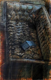 Indrapramit Roy PHILLY COUCH ND Mixed media on paper 40 x 27 in.
