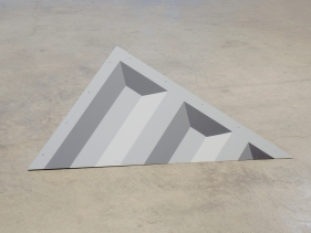 Seher Naveed  Tip 2 (Gray), 2021  Painted MDF  53.50 x 44 in