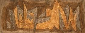 Sadequain UNTITLED (INTERTWINING) Oil on canvas 15 x 38 in.