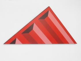 Seher Naveed  Tip (Red), 2021  Painted MDF  30.25h x 59.50w in