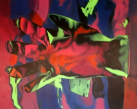T.V. Santosh Test 2 2005 Oil on canvas 48 x 60 in.  SOLD