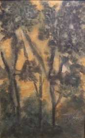 Rabindranath Tagore UNTITLED (FOREST) ND Coloured ink and wash on paper 9 x 5.5 in.