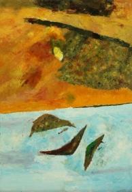 Ram Kumar UNTITLED LANDSCAPE 12 (FALL) 2013 Oil on canvas 36 x 24 in.