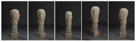 Mayyur Gupta UNTITLED 2008 Wood 30 x 8 x 9 in. UNAVAILABLE (Multiple views of the same sculpture)