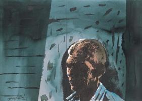 Yusuf Arakkal THE STREET - XVIII Watercolor on paper 19 x 26.5 in.  NFS
