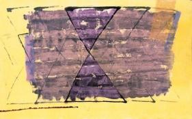 S. Harsha Vardhana UNTITLED 44 2007 Acrylic on paper 30 x 48 in.  UNAVAILABLE