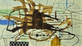 M. Pravat Untitled (C2) 2016 Mixed media on paper 24 x 42 in.