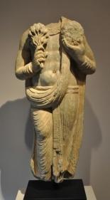 Devotee Ancient Region of Gandhara, Kushan Period 2nd/3rd Century Schist Height: 26.5 in.  NFS