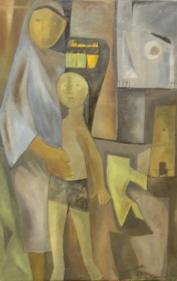 Ram Kumar MOTHER 1957 Oil in canvas 32.5 x 20.5 in.  NFS