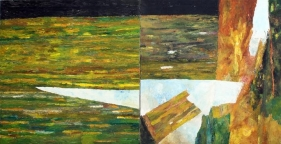 Ram Kumar UNTITLED (DIPTYCH) 2013 Oil on canvas 36 x 72 in.