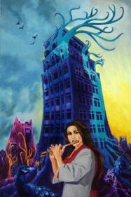 Sanjay Sundram TURQOISE TUNES 2010 Oil on canvas 36 x 24 in.