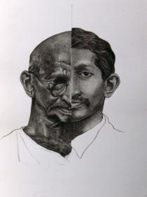 Debanjan Roy UNTITLED 3 2009 Acrylic on paper 14 x 11 in.