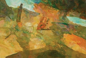 Ram Kumar ABSTRACT LANDSCAPE 17 2007 Oil on canvas 48 x 72 in.