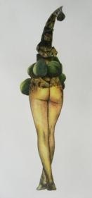 Avishek Sen LEGS AND FRUITS 2013 Watercolor on paper 12 x 6 in.
