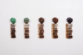 Gigi Scaria  Philosopher's Stone, 2017  Bronze  13hx 4.50 x 3.50 in