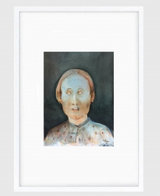 Sujith S.N.  Untitled (Portrait) 3, 2020  Watercolor on paper  6h x 6.50w in