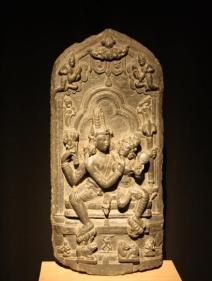 Uma Mahesvara Pala Green chlorite c. 10th Century 24.25 in.