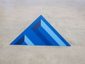 Seher Naveed  Tip 1 (Blue), 2021  Painted MDF  60 x 51 in