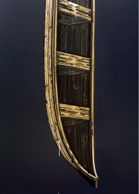 Rajan Krishnan  Boat from the House of the Ferry Man, 2011  Acrylic on canvas  84 x 60 in