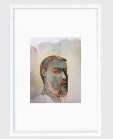 Sujith S.N.  Untitled (Portrait) 1, 2020  Watercolor on paper  6h x 6.50w in