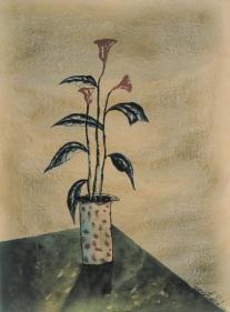 Yusuf Arakkal STILL LIFE I Watercolor on paper 26 x 19 in.  NFS