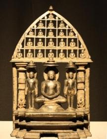Seated Tirthankara Gujarat Bronze 9th/10th Century 12.25 in.