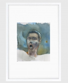Sujith S.N.  Untitled (Portrait) 5, 2020  Watercolor on paper  6h x 6.50w in