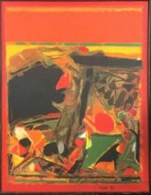 S.H Raza Gorbio 1976 Acrylic on canvas 16 x 13 in.
