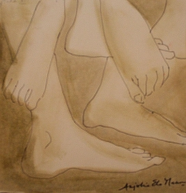 Anjolie Ela Menon YATRA 11 2005 Watercolor on paper 11 x 11 in.