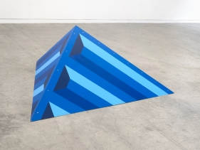 Seher Naveed  Tip 4 (Blue), 2021  Painted MDF  72 x 62 in
