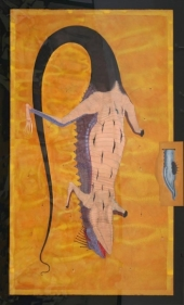 Anandajit Ray TAAQUAT Watercolor and gouache on paper 56 x 36 in.