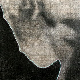 Sajal Sarkar OTHER SIDE 2006 Charcoal and oil on canvas 48 x 48 in.