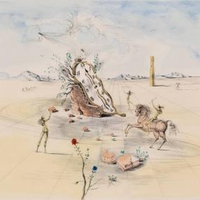 Salvador Dali, Cosmic Horseman, Salvador Dali prints for sale at Manolis Projects Art Gallery, Miami, Fl