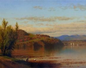 Artist Sanford R. Gifford 1823-1880.