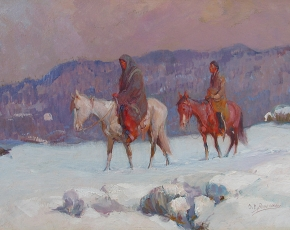 Artist Oscar Berninghaus 1874-1952.