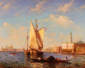 Artist Felix Ziem 1821-1911.