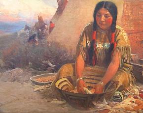 Artist Frank Tenney Johnson 1874-1939.